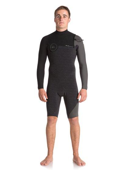 2/2mm Highline series - springsuit sans zip manches longues pour homme - noir - quiksilver