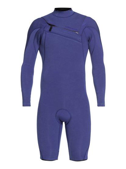 2/2mm Highline limited - springsuit manches longues zip poitrine pour homme - bleu - quiksilver