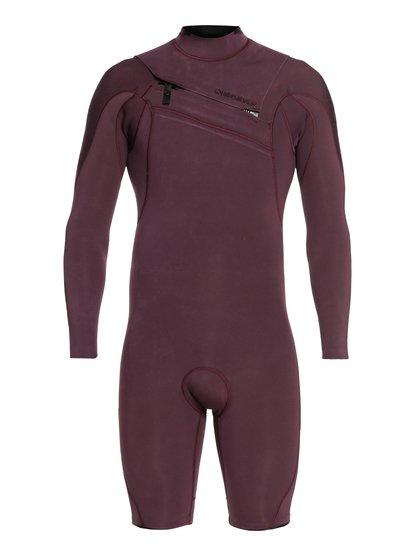 2/2mm Highline Limited - Springsuit manches longues zip poitrine pour Homme - Rose - Quiksilver