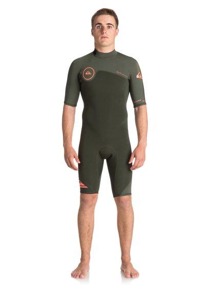 2mm Syncro - springsuit à manches courtes pour homme - marron - quiksilver