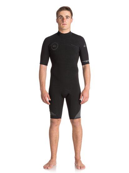 2/2mm Syncro Series - Springsuit à manches courtes avec zip dans le dos pour Homme - Noir - Quiksilver