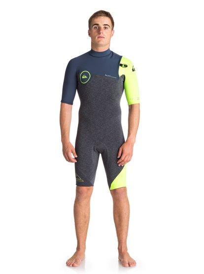 2/2mm Highline series - springsuit manches courtes sans zip pour homme - noir - quiksilver