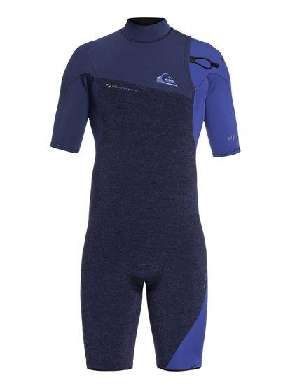 2/2mm Highline series - springsuit manches courtes sans zip pour homme - bleu - quiksilver