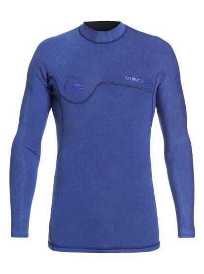 1.5mm Highline limited monochrome - top de surf à manches longues néoprène pour homme - bleu - quiksilver
