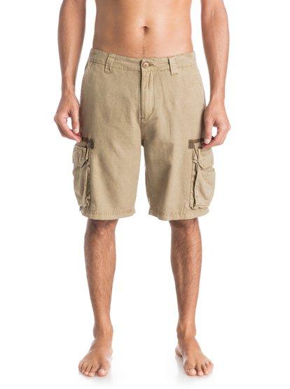 Mens Watson Up ShortsМужские шорты Watson Up от Quiksilver.ХАРАКТЕРИСТИКИ: карманы-карго, стандартный крой, длина 53,3 см (21), легкий текстиль.СОСТАВ: 55% лён, 45% хлопок.<br>
