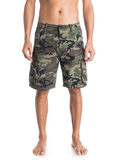 Deluxe ShortsМужские шорты Deluxe от Quiksilver.ХАРАКТЕРИСТИКИ: карманы-карго, стандартный крой, длина 53,3 см (21), легкая ткань плотностью 283 г/кв. м.СОСТАВ: 100% хлопок.<br>