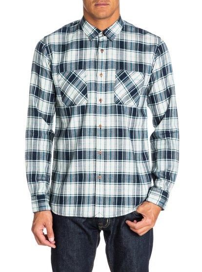 SalcottМужская рубашка с длинным рукавом от Quiksilver – новинка из коллекции Весна 2015. Характеристики: узкий крой, дизайн в клетку, двойные карманы.<br>