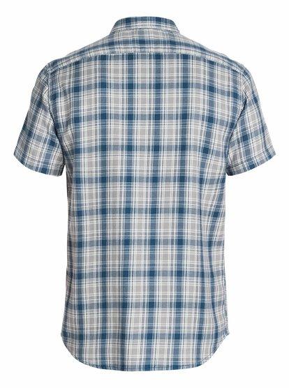 Swiftlet - QuiksilverМужская рубашка с коротким рукавом от Quiksilver – новинка из коллекции Весна 2015. Характеристики: современный крой Modern Fit, двуслойная ткань, дизайн в клетку.<br>