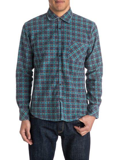 PinelookМужская рубашка Pinelook с длинным рукавом от Quiksilver. Характеристики: хлопчатобумажная фланель, узкий крой, принт в клетку. <br>СОСТАВ: 100% хлопок.<br>