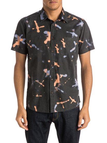 Рубашка с коротким рукавом Markings ShirtМужская рубашка с коротким рукавом Markings Shirt от Quiksilver.ХАРАКТЕРИСТИКИ: короткие рукава, натуральный поплин, крой Modern, художественный принт.СОСТАВ: 100% хлопок.<br>