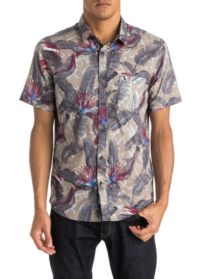 Quiksilver Men's Riot Shirt Short Sleeve Shirt