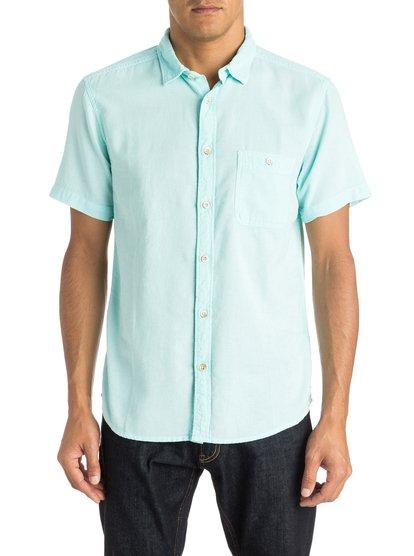 Мужская рубашка с коротким рукавом Time BoxМужская рубашка с коротким рукавом Time Box от Quiksilver.ХАРАКТЕРИСТИКИ: короткие рукава, натуральный поплин, крой Modern, ткань внешне имитирует лён.СОСТАВ: 100% хлопок.<br>