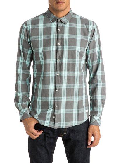 Мужская рубашка с длинным рукавом Atlantic JungleМужская рубашка с длинным рукавом Atlantic Jungle от Quiksilver.ХАРАКТЕРИСТИКИ: длинные рукава, хлопчатобумажная саржа, узкий крой, технология щадящей окраски в клетку.СОСТАВ: 100% хлопок.<br>