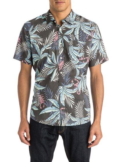 Mens Everyday Before Dark Short Sleeve ShirtМужская рубашка с коротким рукавом Everyday Before Dark от Quiksilver.ХАРАКТЕРИСТИКИ: короткие рукава, натуральный поплин, сплошной принт, один нагрудный карман.СОСТАВ: 100% хлопок.<br>