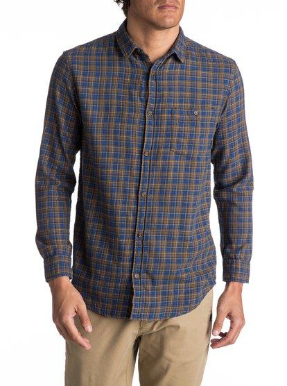 Phaser Setting flannel - chemise à manches longues pour homme - bleu - quiksilver