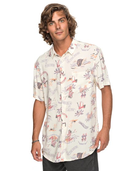 Aloha Strip club - chemise à manches courtes pour homme - blanc - quiksilver