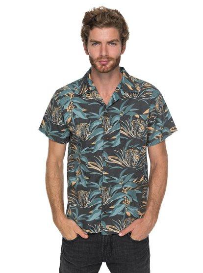 Aloha Tiger - chemise à manches courtes pour homme - noir - quiksilver