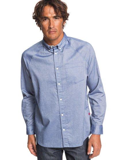 Agora - chemise manches longues pour homme - bleu - quiksilver
