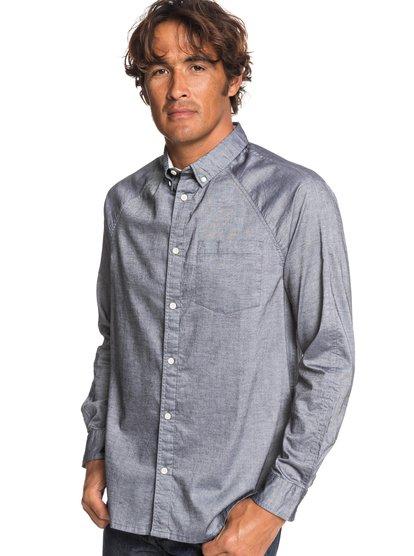 Agora - chemise manches longues pour homme - gris - quiksilver