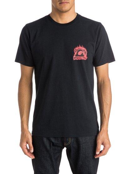 Sweet And Sour T-ShirtМужская футболка Sweet, Sour от Quiksilver.ХАРАКТЕРИСТИКИ: короткие рукава, мягкий натуральный трикотаж, ткань средней плотности 180 г/кв. м, брендинг коллекции Dark Rituals.СОСТАВ: 100% хлопок.<br>