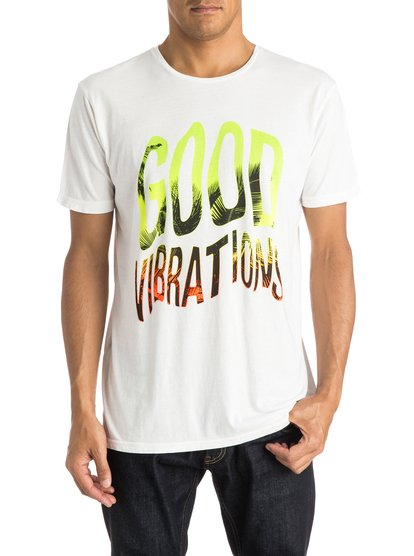 Quiksilver Men's Garment Dyed Good Vibrations T-Shirt