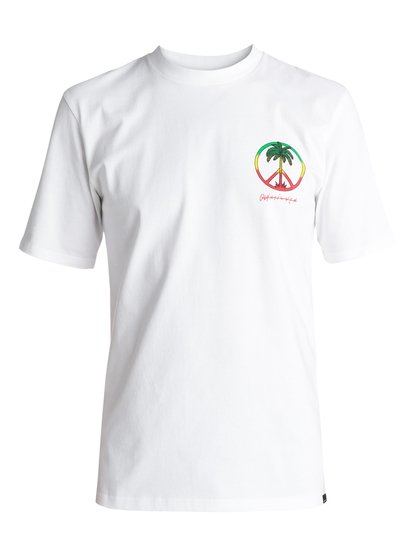 Quiksilver Peace On The Beach - T-Shirt for Men - White - Quiksilver