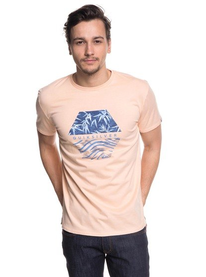 Bamboo Breakfast - t-shirt col rond pour homme - rose - quiksilver