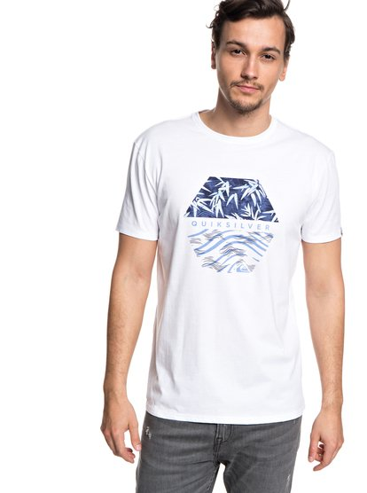 Bamboo Breakfast - t-shirt col rond pour homme - blanc - quiksilver