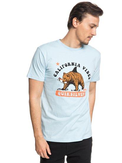 Bear Shark - t-shirt col rond pour homme - bleu - quiksilver