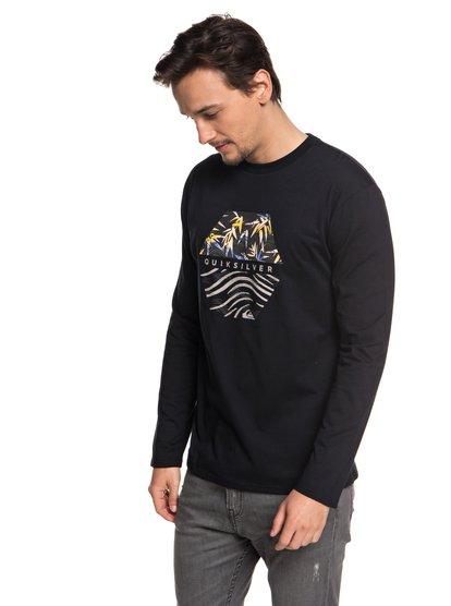 Bamboo Breakfast - t-shirt à manches longues pour homme - noir - quiksilver
