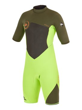 Syncro Flatlock 2/2mm - Back Zip Short Sleeve Springsuit  AQBW503003
