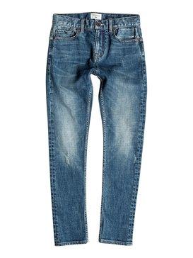 Low Bridge Blue Damaged - Skinny Fit Jeans  EQBDP03096