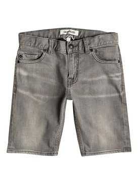 Distorsion Light Grey - Denim Shorts  EQBDS03024