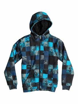 Allover Sherpa Checks - Fleece Top  EQBFT03111