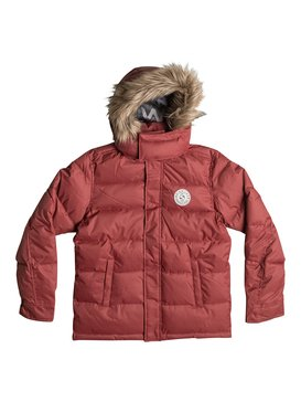 Red Bud Solid - Solid Parka Jacket  EQBJK03042