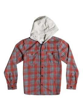 Snap Up Flannel - Hooded Long Sleeve Shirt  EQBWT03107