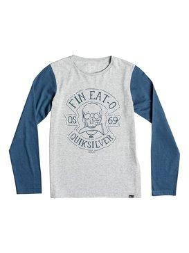 Colorblock Fin Eat - Long Sleeve T-Shirt  EQBZT03366