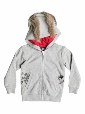 Angry Cat Fleece - Fleece Zip-Up Hoodie  EQKFT03065