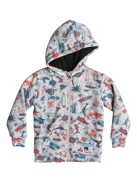 Allover Sherpa Backool - Zip-Up Hoodie  EQKFT03094
