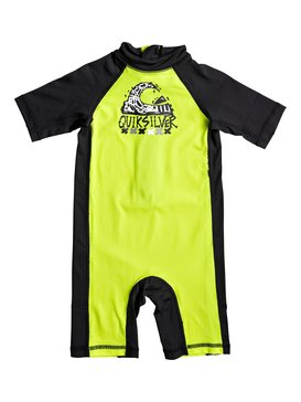 Bubble Spring - Short Sleeve One-Piece UPF 50 Rashguard  EQKWR03021