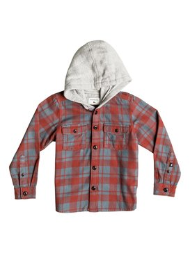 Snap Up Flannel - Hooded Long Sleeve Shirt  EQKWT03069