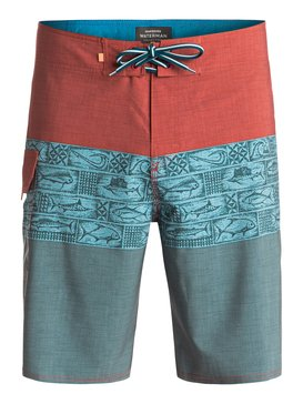 "Waterman Fairway Tri Block 20"" - Board Shorts  EQMBS03001"