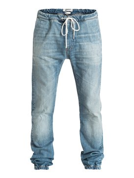 Fonic Denim - Trousers With Elastic Waistband & Hem  EQYDP03117