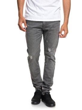 Low Bridge Grey Damaged - Slim Fit Drop Crotch Jeans  EQYDP03371