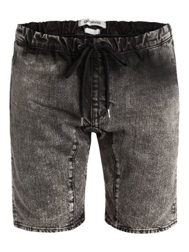 Fonic Denim Acid - Acid Shorts With Elastic Waistband & Hem  EQYDS03024