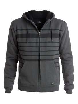 Stripe Sherpa - Zip-Up Sherpa Hoodie EQYFT03226