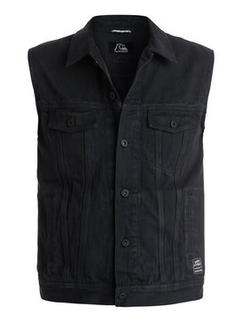 Hooligans And Whisky - Sleeveless Short Denim Jacket  EQYJK03135