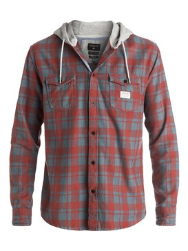 Snap Up Flannel - Long Sleeve Hooded Shirt  EQYWT03376