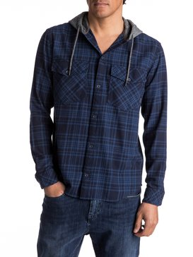 Snap Up Flannel - Long Sleeve Hooded Shirt  EQYWT03578