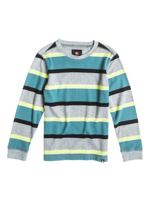 0 Boys 2-4  Snit Stripe Sweatshirt  40444017 Quiksilver